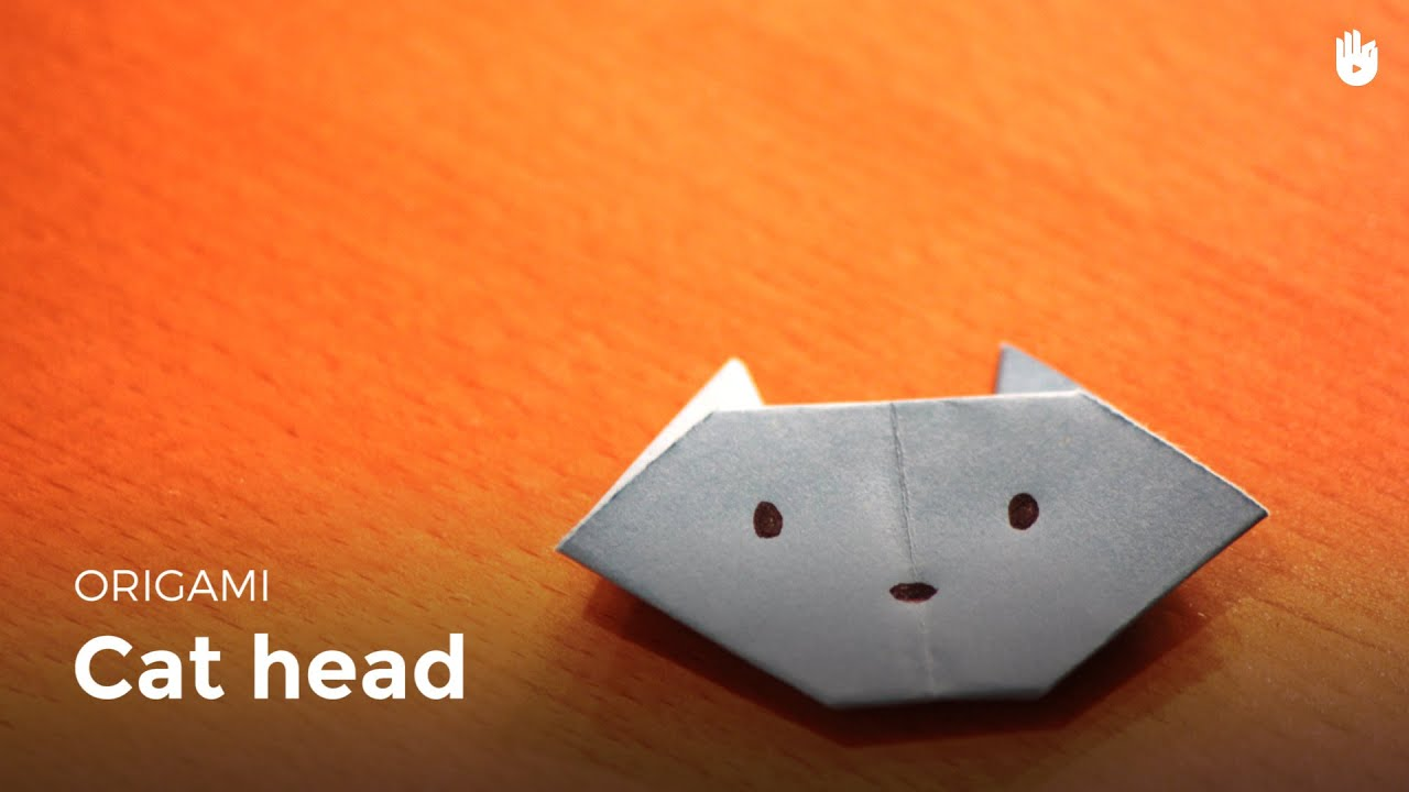 origami cat head learn how to make origami sikana