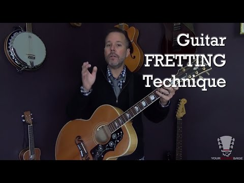 Guitar Fretting Technique - Beginner Guitar Lesson