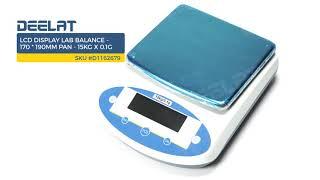 LCD Display Lab Balance - 170*190mm Pan - 15Kg Capacity x 0.1g