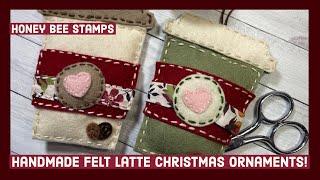Handmade Felt Christmas Ornaments!