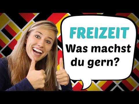 GERMAN LESSON 50: Was machst du in deiner Freizeit? // Hobbies auf Deutsch