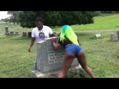 A Stripper Twerking On A Man's Grave