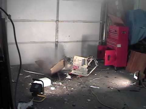 Biggest microwave bottle explosion yet