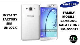 SIM Unlock Family Mobile Galaxy On5 For Use On Other Carriers!