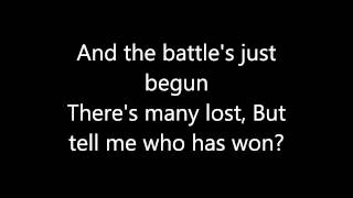 Paramore - Sunday Bloody Sunday lyrics - YouTube