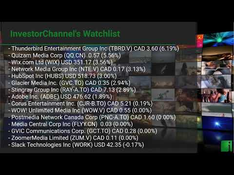 InvestorChannel's Media Watchlist Update for Wednesday, Fe ... Thumbnail
