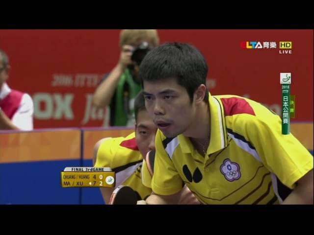 2016日本公開賽-男雙冠軍賽-許昕-馬龍