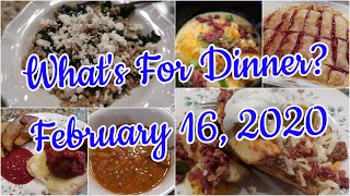 What's For Dinner? Feb 16, 2020 | Cooking for Two | Easy Weeknight Meals | Pantry Meals