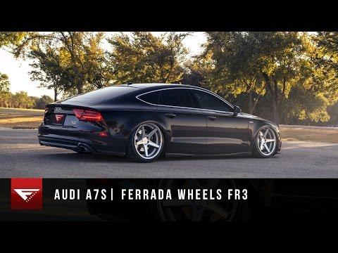 2014 Audi A7 | Ferrada Wheels FR3 in Machine Silver | Bagged Audi A7 | Air Ride