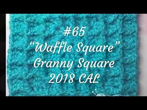 Einfaches Waffelmuster Häkeln In Runden Waffelmuster Granny Square