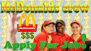 Apply for McDonalds Crew Job