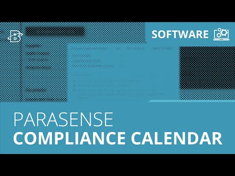 Parasense | Compliance Calendar