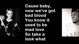 Taylor Swift - Bad Blood ft. Kendrick Lamar (Lyrics video)
