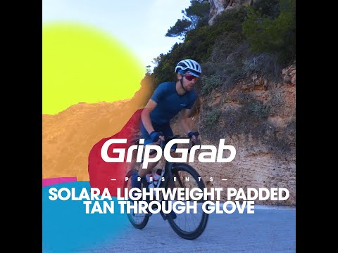 GripGrab Solara Tan Through cykelhandsker Navy video