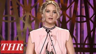 Jennifer Lawrence Full Acceptance Speech at The Hollywood Reporter's Women in Entertainment 2017