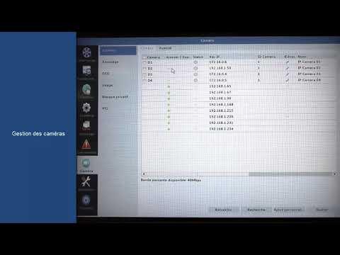 ENREGISTREUR 8 VOIES PoE H265 1 EMPLACEMENT HDD