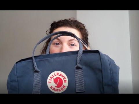 Fjallraven Kanken Maxi Graphite Backpack Chest Strap Unpackaging