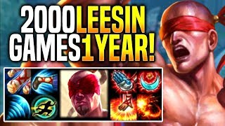 CRAZIEST KOREAN LEE SIN MAIN WITH +2000 GAMES IN ONE YEAR!
