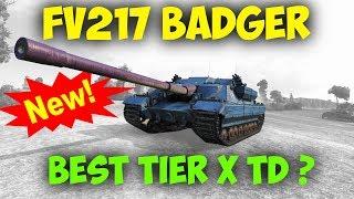 FV217 Badger || NEW Tier X TD | 11,3K Damage || World of Tanks