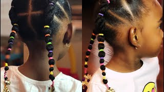 2018 Little Girl Hairstyles/natural Hair|elastic Styles For Kids
