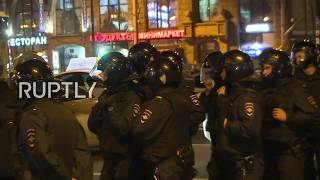 LIVE: Navalny calls for unauthorised protest in St. Petersburg