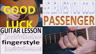 HE LEAVES YOU COLD - PASSENGER fingerstyle GUITAR LESSON