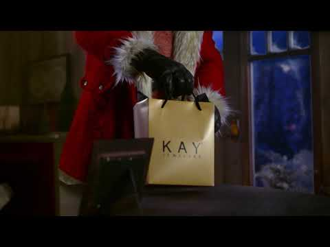 ▷ Kay Jewelers Santa flying through the skies Ad Commercial on TV