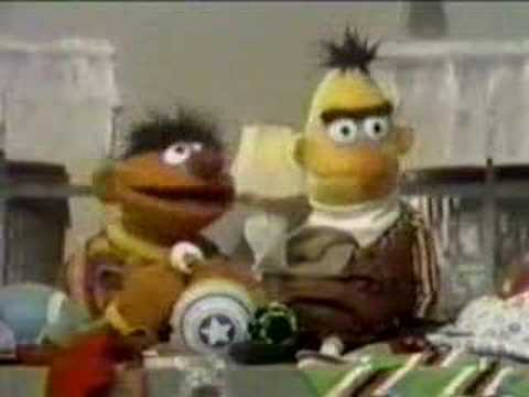 Classic Sesame Street - Ernie cleans up to TMBG music