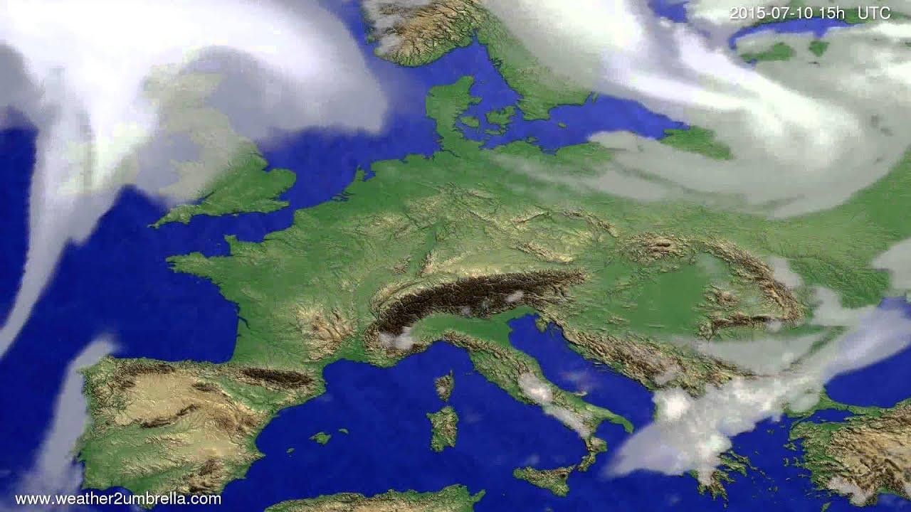 Cloud forecast Europe 2015-07-06