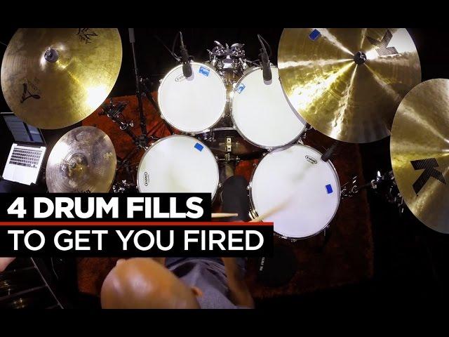 4 Crazy Fast Drum Fills | Buddy Rich & Dennis Chambers