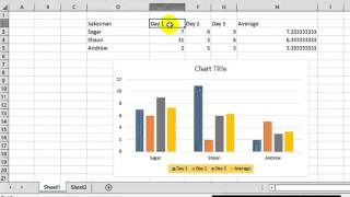 How to change legend text in Microsoft excel