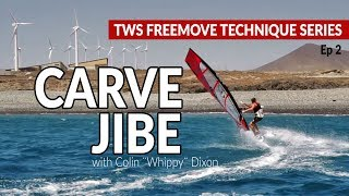 Episode 2: Carve jibe, how to gybe, jibing tips technique tutorial windsurfing