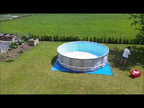 intex pools ultra frame pool 549 x 132 cm mit sandfilter komplett set chlorinator. Black Bedroom Furniture Sets. Home Design Ideas