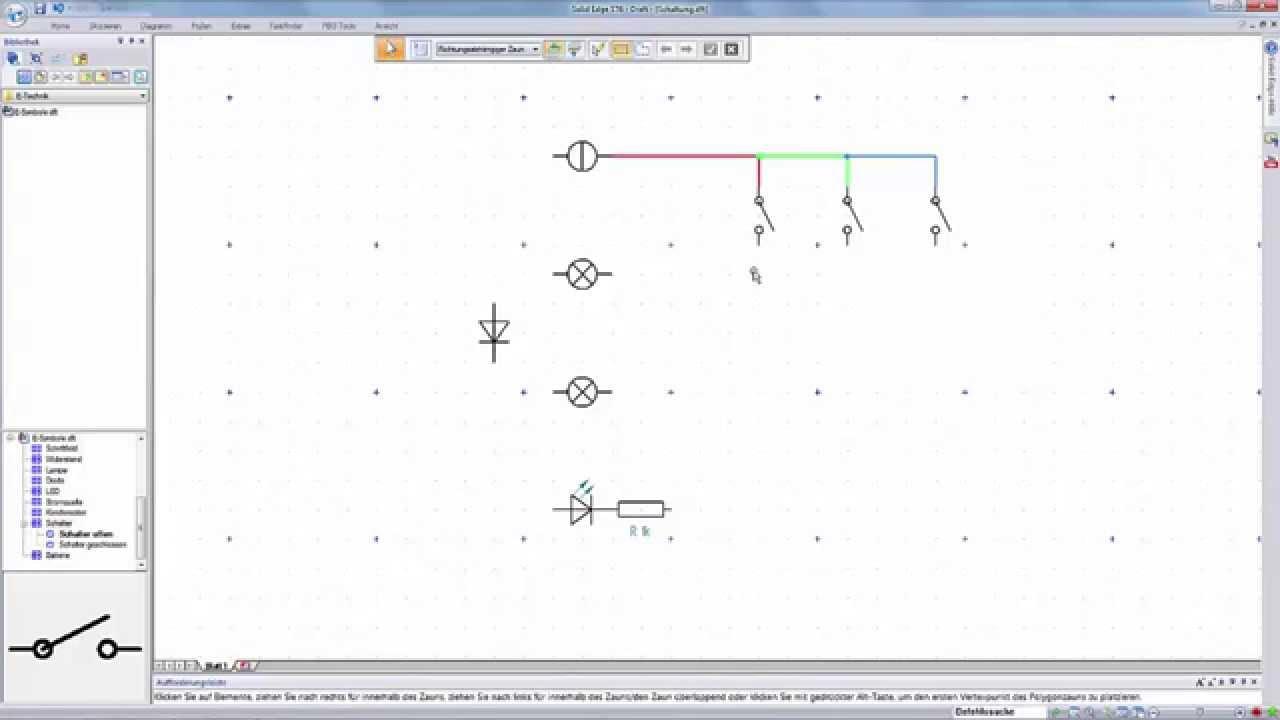 Vorschaubild: Solid Edge Tutorial: Arbeiten mit Blöcken (Beispiel Schaltplan)