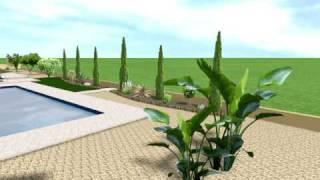 preview picture of video 'Ha Potami C Pan 25 V2 option 2, 3D garden design'