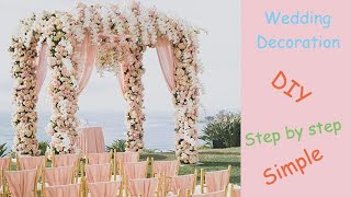 How To DIY Flower Arch Decoration (tutorial)