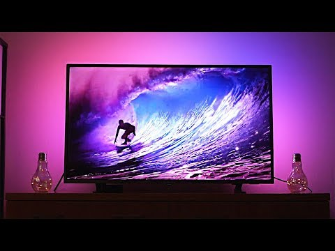 Philips Ambilight TV Review & Demo - Amazing Immersive Colors!