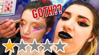 I WENT TO THE WORST REVIEWED MAKEUP ARTIST to turn me GOTH