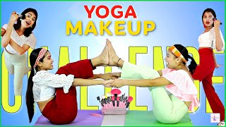 Challenge QUEEN - Makeup Challenge While Doing EXERCISE/YOGA   IMAGES, GIF, ANIMATED GIF, WALLPAPER, STICKER FOR WHATSAPP & FACEBOOK