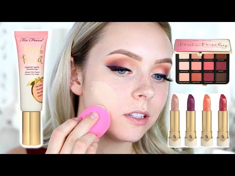 FULL FACE FIRST IMPRESSIONS | Too Faced Peaches and Cream Collection