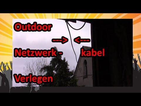 🛠 netzwerkkabel verlegen | outdoor network cable 🛠
