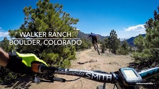Going fast on decomposed granite at Boulder's Walker Ranch.