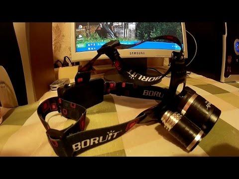 Налобний ліхтар boruit rj 3001 з aliexpress.Розпаковка + тести.