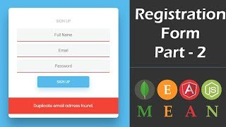 MEAN Stack User Registration Form With Angular 6 - Part 2