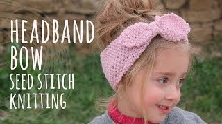 Tutorial Girl Headband Knitting Easy and Quick | Lanas y Ovillos in English