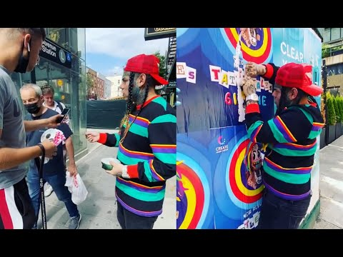 "LOL ""OOO"" CHILD: 6ix9ine Passes Out Bootleg Copies Of His Album Nobody Wants It"