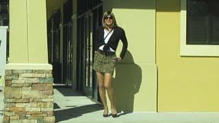 Crossdressing in a leopard print skirt