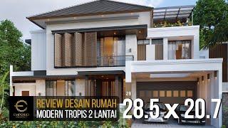 Video Desain Rumah Modern 2 Lantai Ibu Irma di  Semarang, Jawa Tengah
