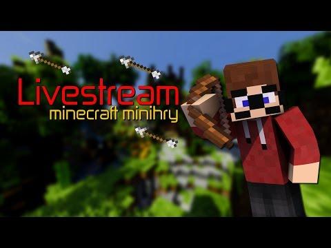 【Livestream】►Minecraft Minihry (UHCrun a Mineplex) w/Macko,Marawan [záznam]