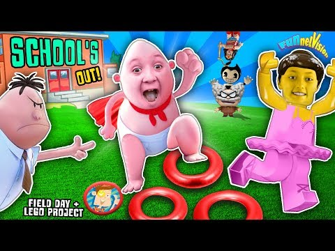 SCHOOLS OUT!! Captain Underpants Dance Recital, LEGO Project & Field Day FUNnel Vision Vlog